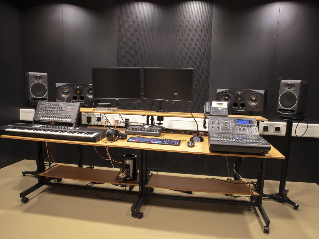 Recording studio at ISL