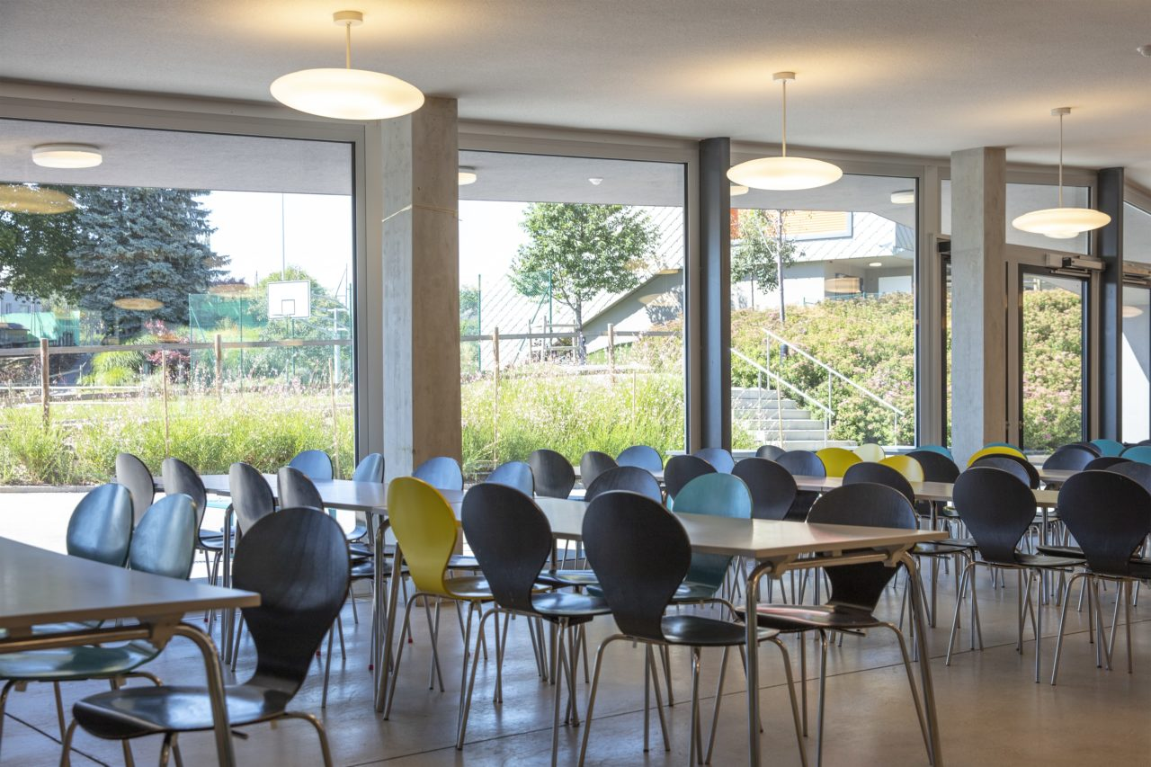 Cafeteria room at International School of Lausanne